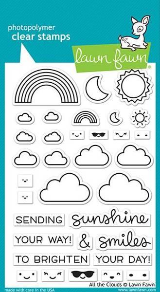Bilde av all the clouds stamp