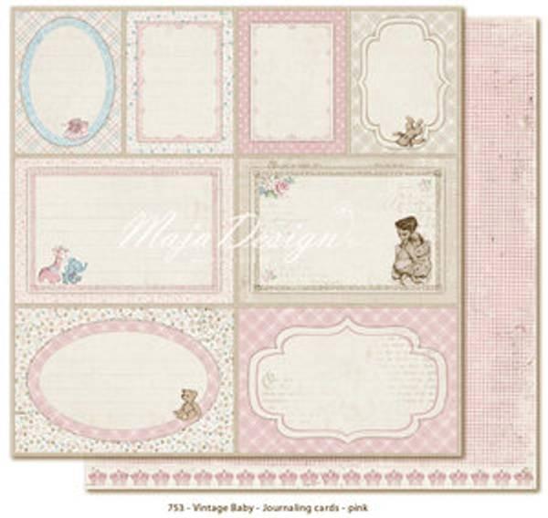 Bilde av Journaling cards pink