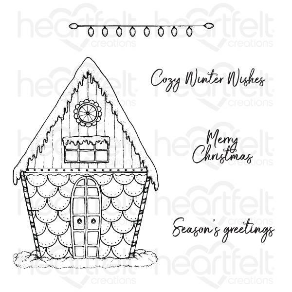 Bilde av Candy Cane Cottage stamp