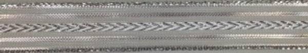 Bilde av Bånd sølv stripet 15mm