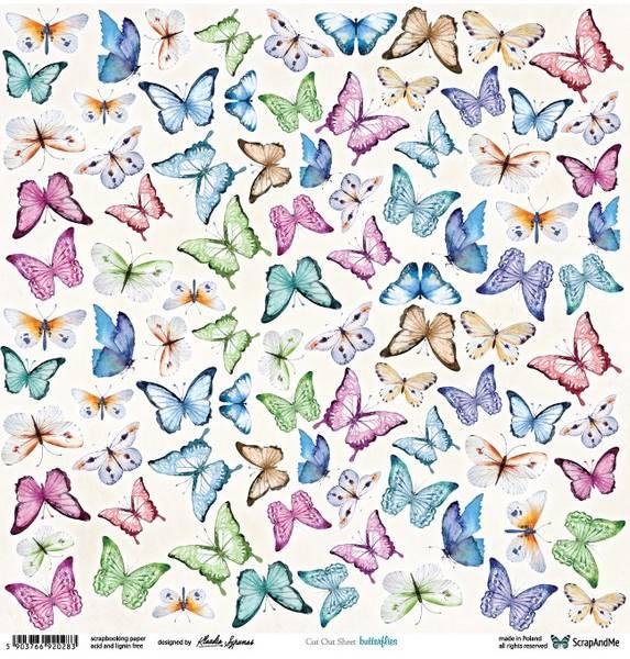Bilde av Butterflies  Utklippsark