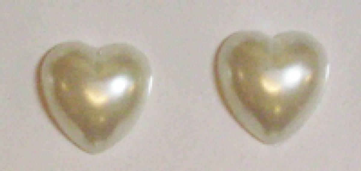 K&G; Perlehjerter 9mm natur selvklebende 0237