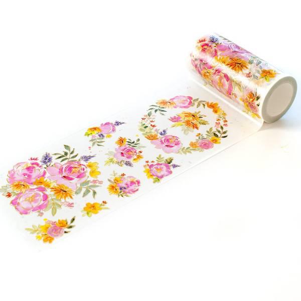 Bilde av Painted peony washi tape
