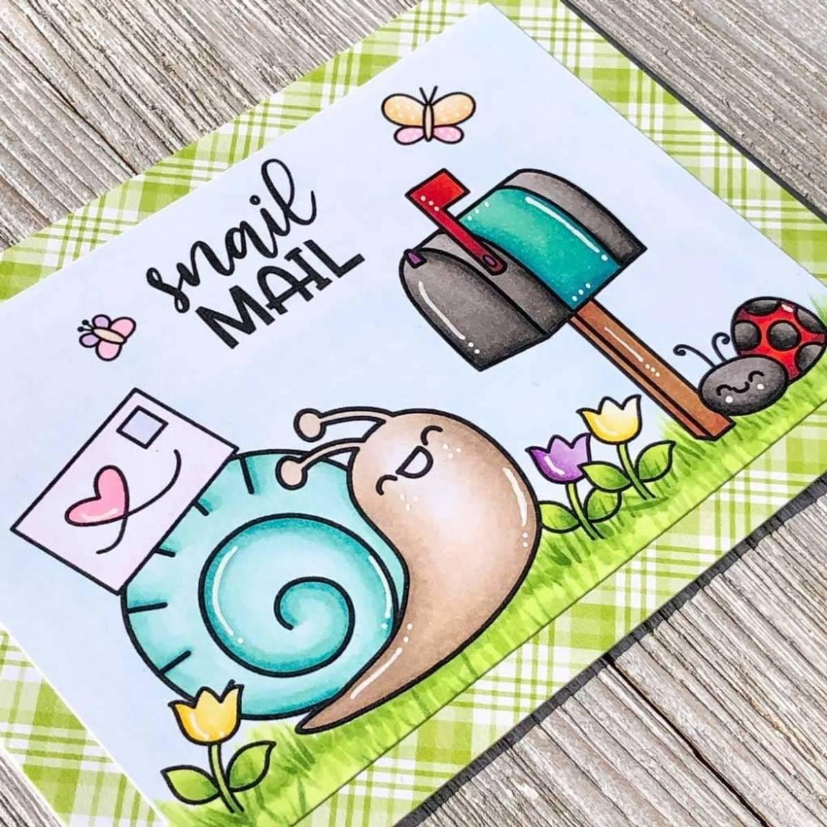 Time For Tea You've Got Mail stamp set