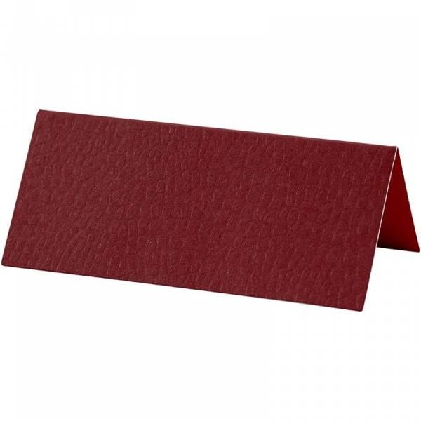 Bilde av CC; Bordkort rød/ vinrød