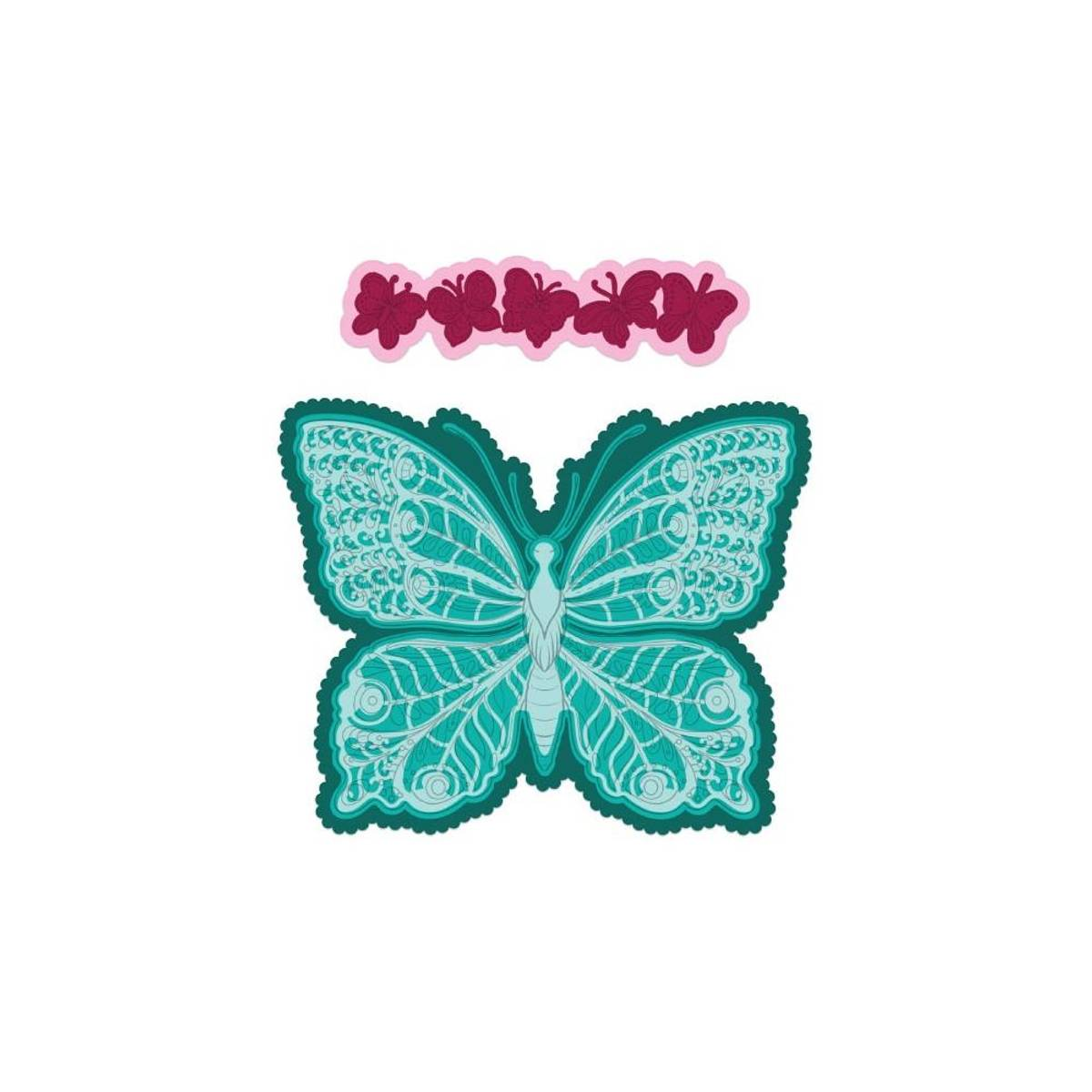 Floral Butterfly Large die