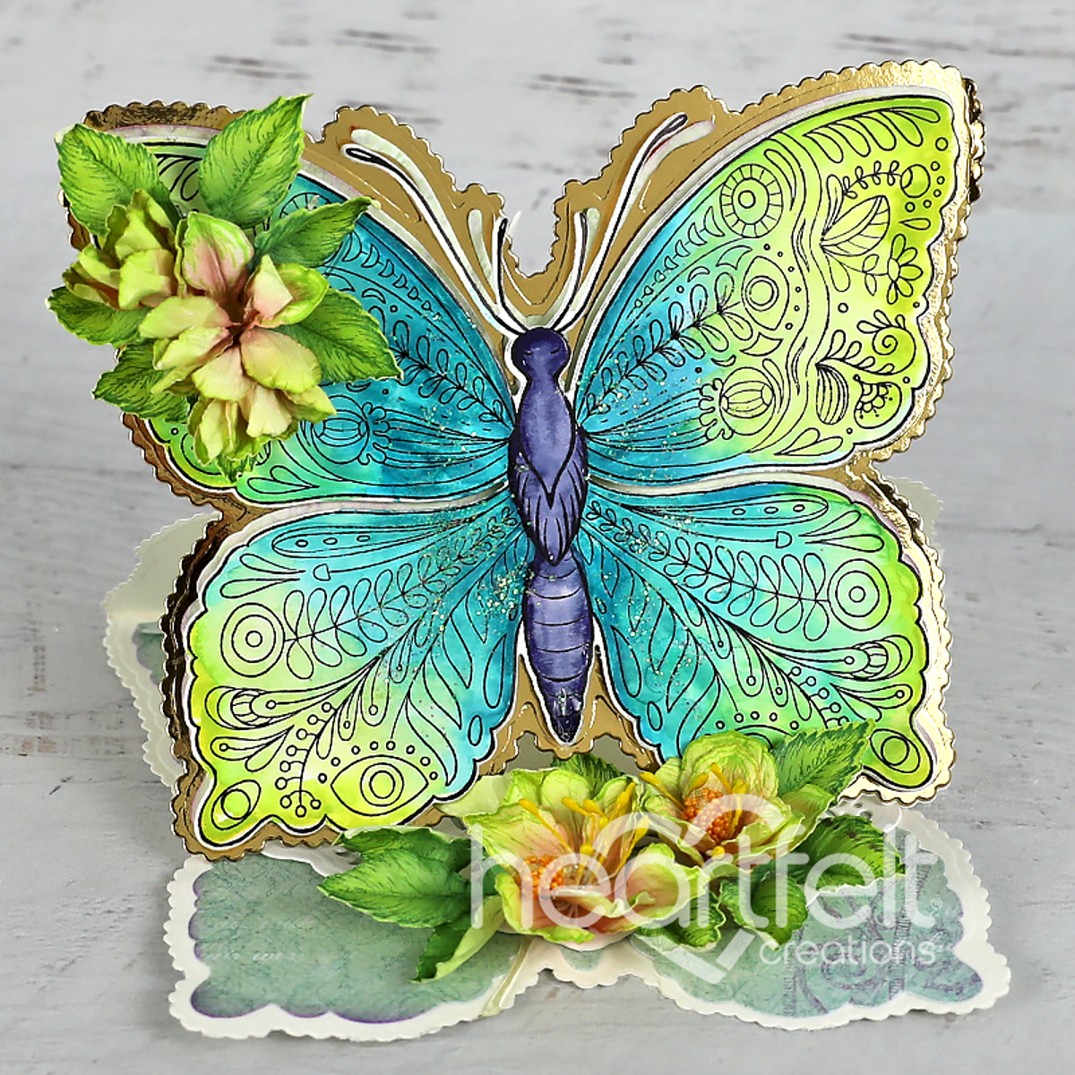 Floral Butterfly Large stamp