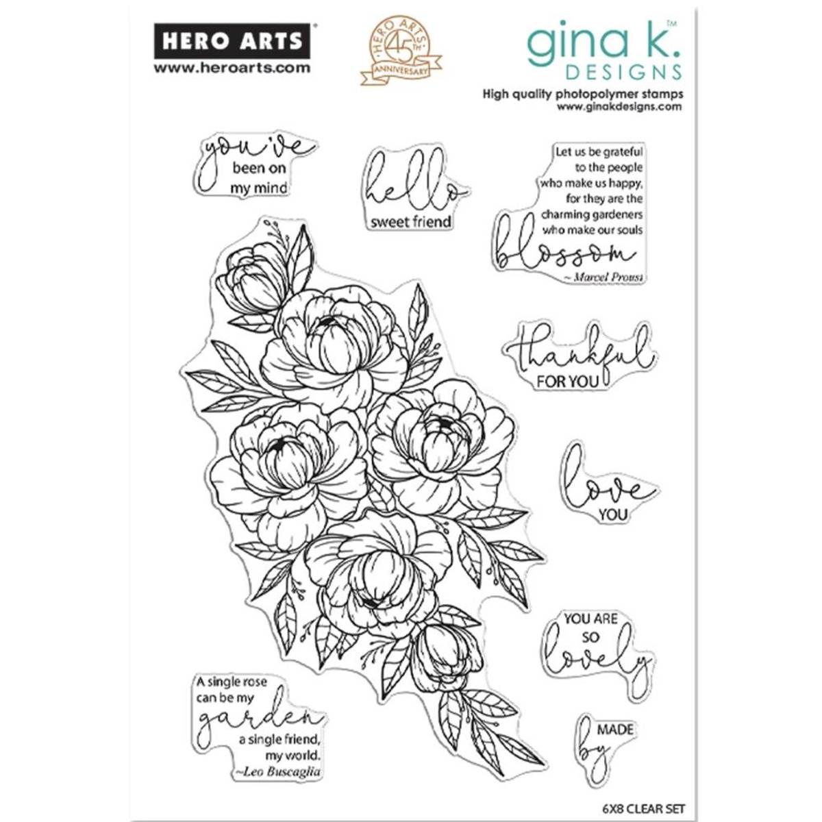Hero Arts + Gina K; Friendship Blooms
