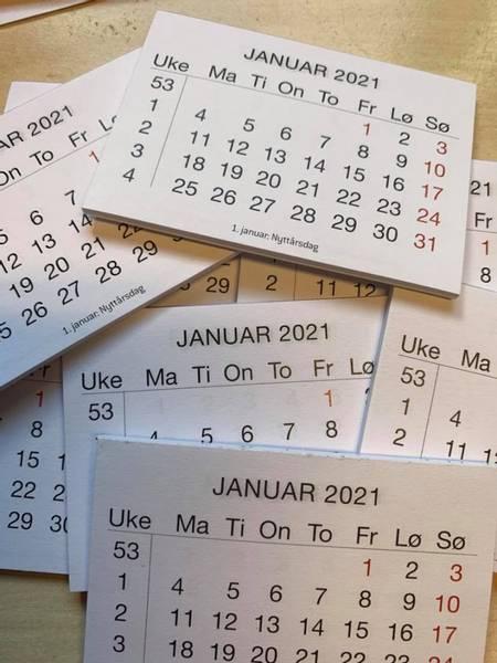 Bilde av Kalender med norske