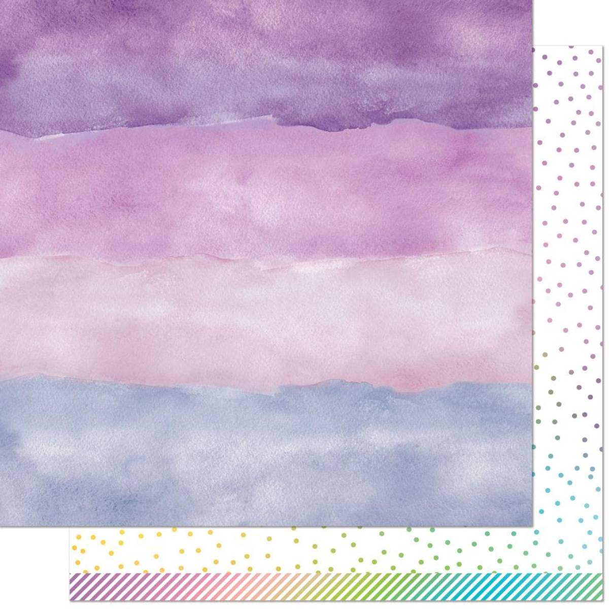 Watercolor Wishes Rainbow; Amethyst