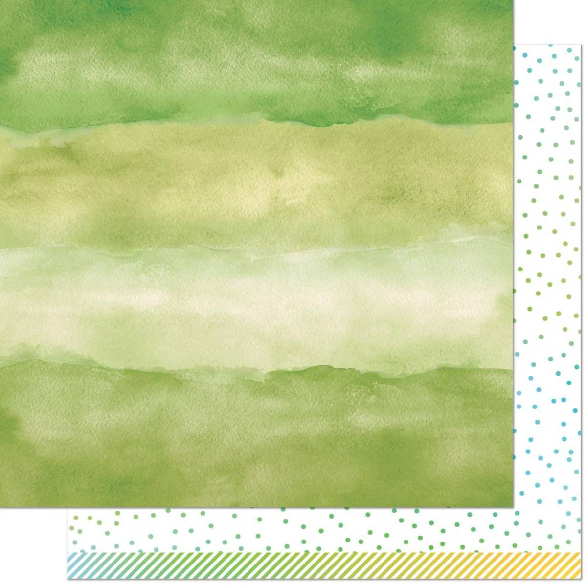 Watercolor Wishes Rainbow; Emerald