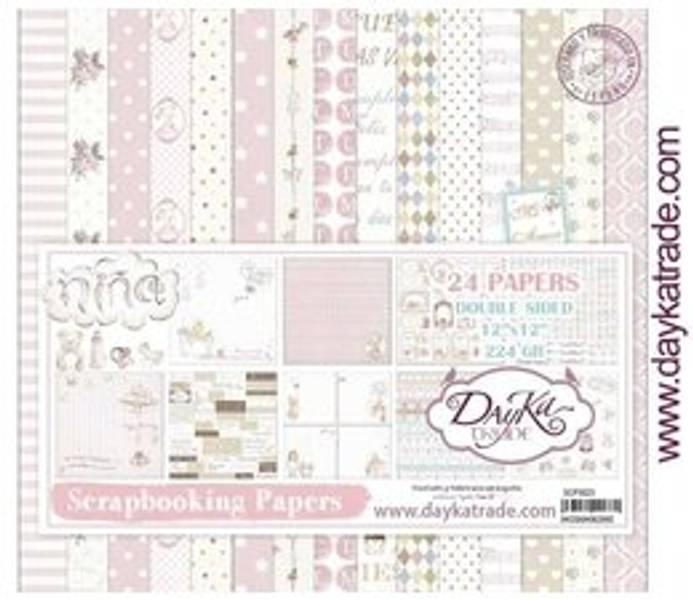 DayKa Trade Bebe Niña 12x12 Inch Paper Pack