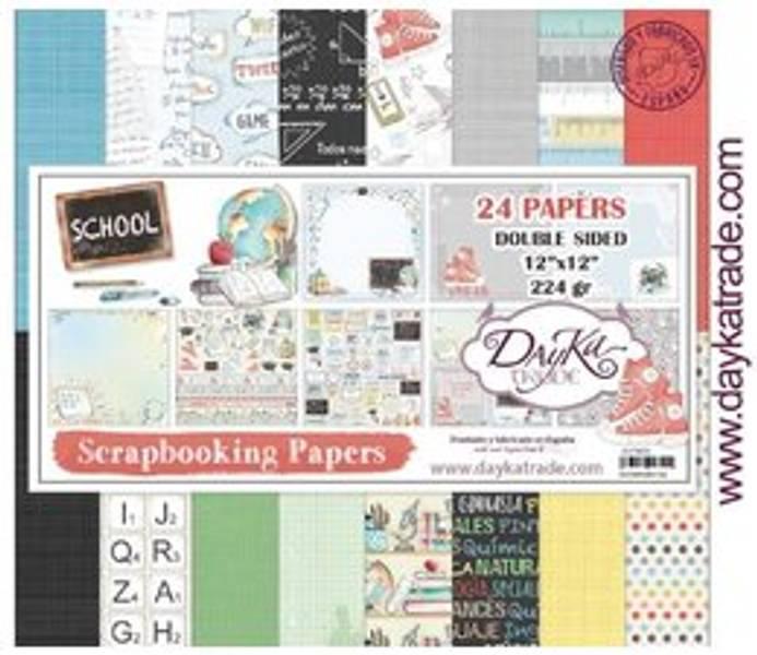 DayKa Trade School 12x12 Inch Paper Pack