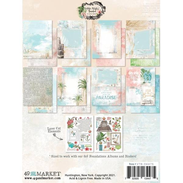 """Vintage Artistry Beached - Collection Pack 6""""X8"""""""