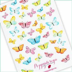 Bilde av Stickers sommerfugler
