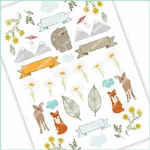 Bilde av Stickers Nordisk skog