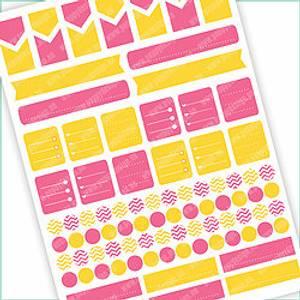 Bilde av Stickers Basic Rosa