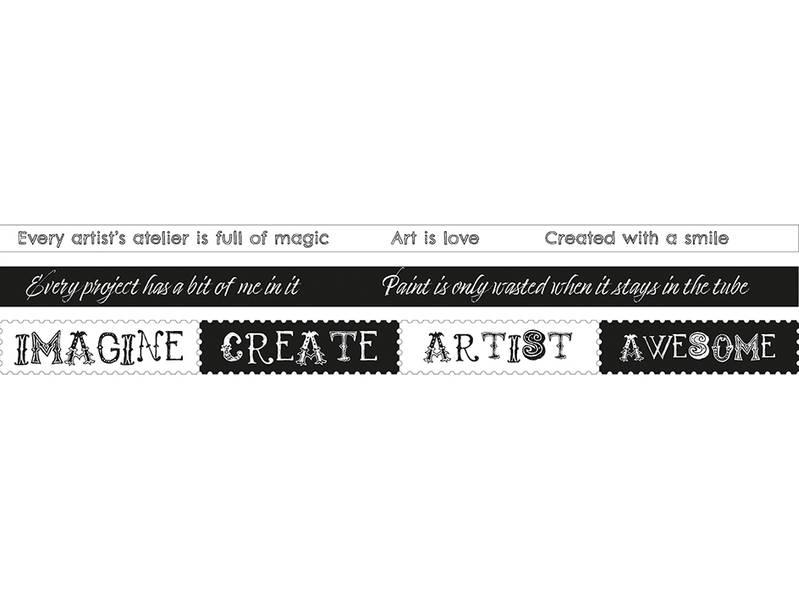 Studio Light Artist's Atelier Washi Tape – Texts