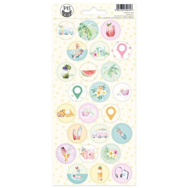 Summer Vibes Cardstock Stickers - #03