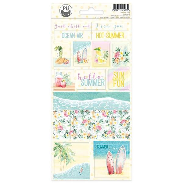 Summer Vibes Cardstock Stickers  - #02