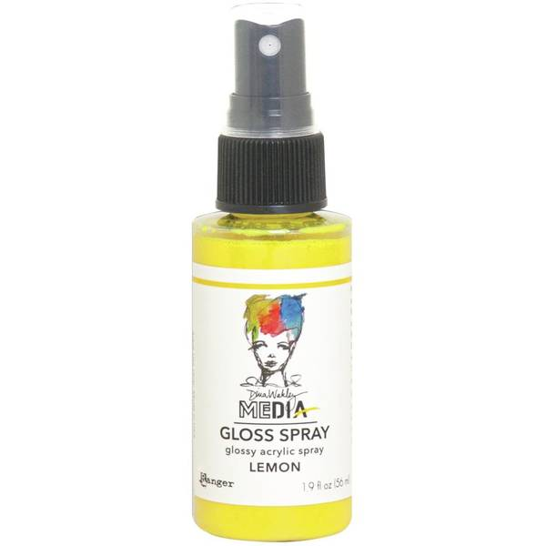 Dina Wakley Media Gloss Spray - Lemon