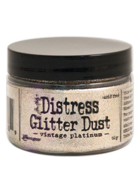 Distress Glitter Dust - Vintage Platinum (.50 Grams),