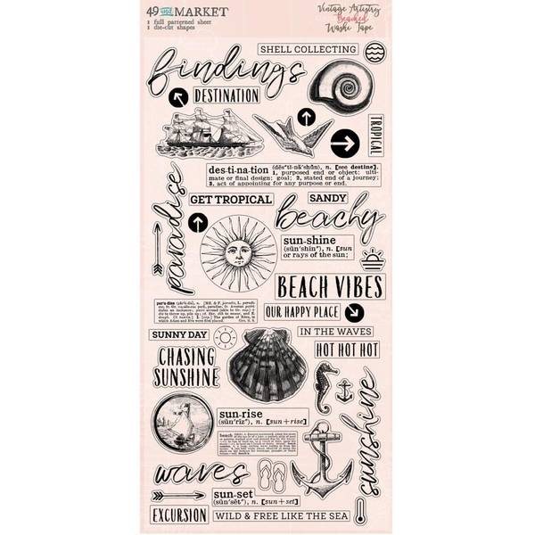 Vintage Artistry Beached - washi  tape