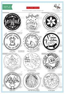 Bilde av Holiday Seals Stamp Set by