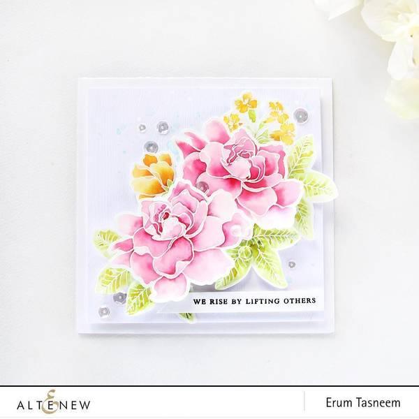 Build-A-Flower: Gardenia stamp + dies