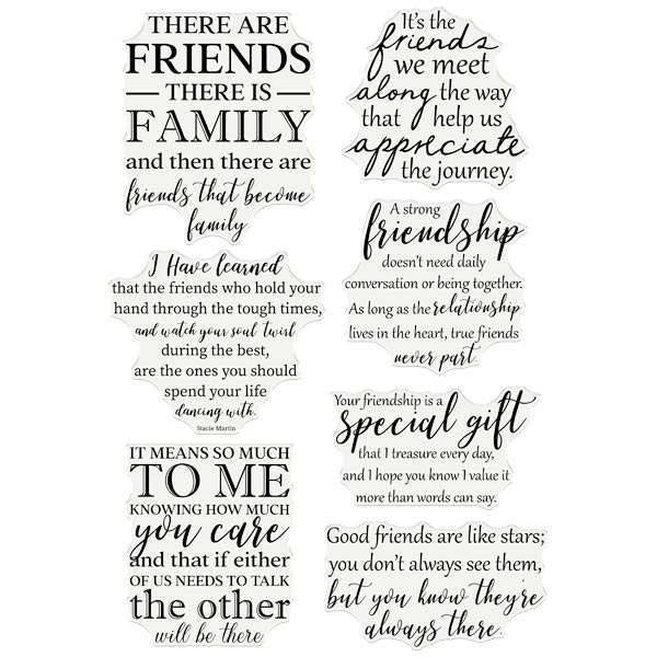 Crafter's Companion Friends Forever Clear Stamps