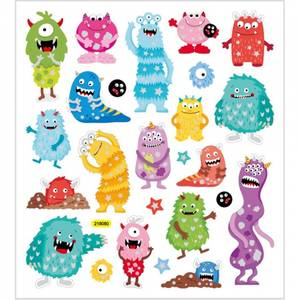Bilde av Stickers, ark 15x16,5 cm, ca.