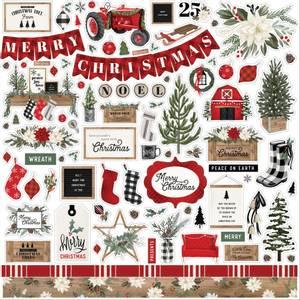 Bilde av Farmhouse Christmas Cardstock