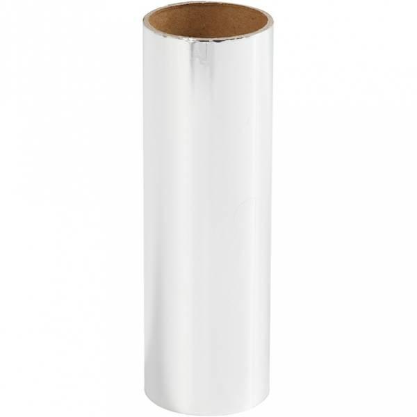 Dekorasjonsfolie, B: 15,5 cm, sølv, 50cm