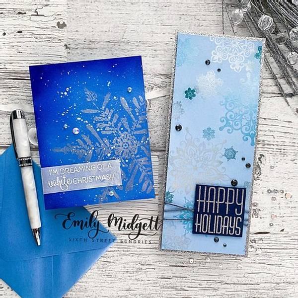 Big & Bold~Slimline Nordic Snowflakes