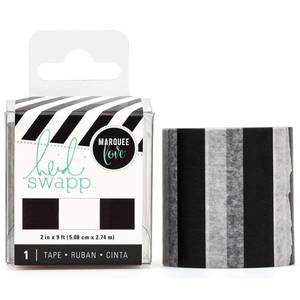 Bilde av Black and white stripe tape