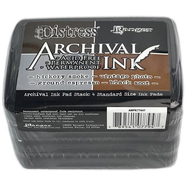 Tim Holtz Distress Archival Ink Pad Stack - Basics