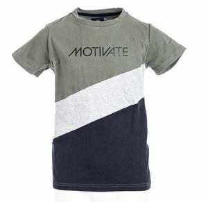 Bilde av Move On T-Skjorte Motivate Lys Oliven Gutt