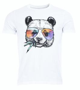 Bilde av Artic North Hippie Panda White T-skjorte herre
