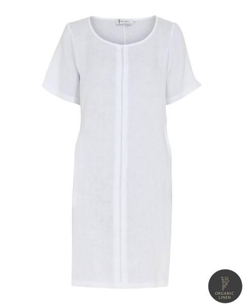 NELLY DRESS - white, str. Small