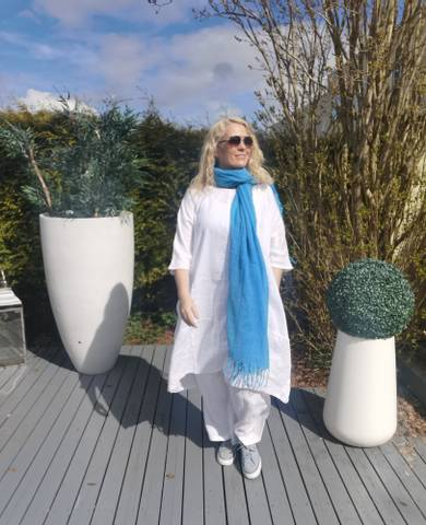 Bilde av FALLIANA BALLOON DRESS - HVIT