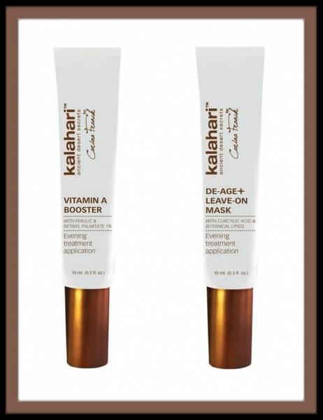 KALAHARI Vitamin A booster + De-Age Leave-On mask