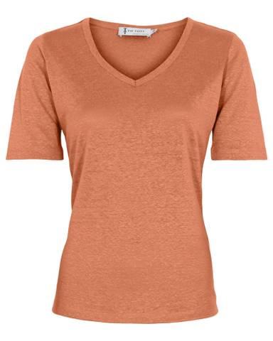 Bilde av Linen T-Shirt - Dry Melon