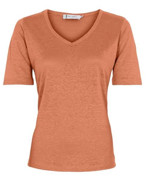 Linen T-Shirt - Dry Melon