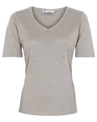 Bilde av Linen T-Shirt - Sand