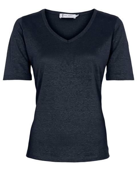 Linen T-Shirt - Navy