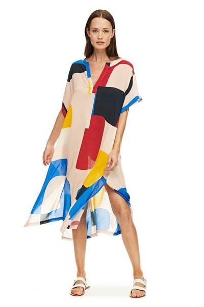 Bilde av Flores Mondrian beachwear