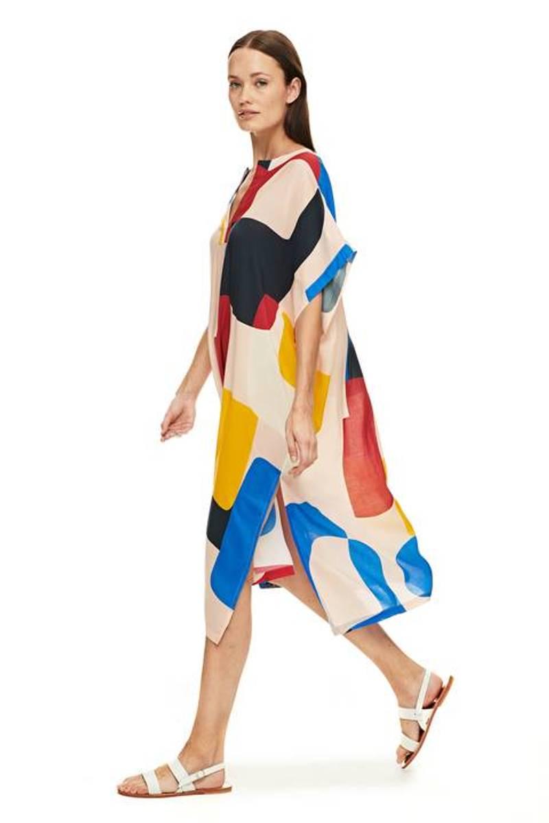 Flores Mondrian beachwear