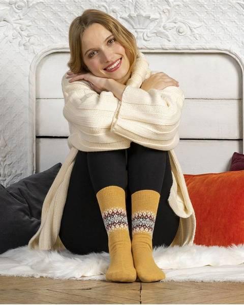 Bilde av Cashmere sokk med mønster