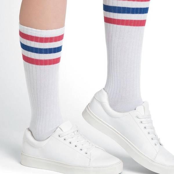 Bilde av Bomull sokker retro, høy