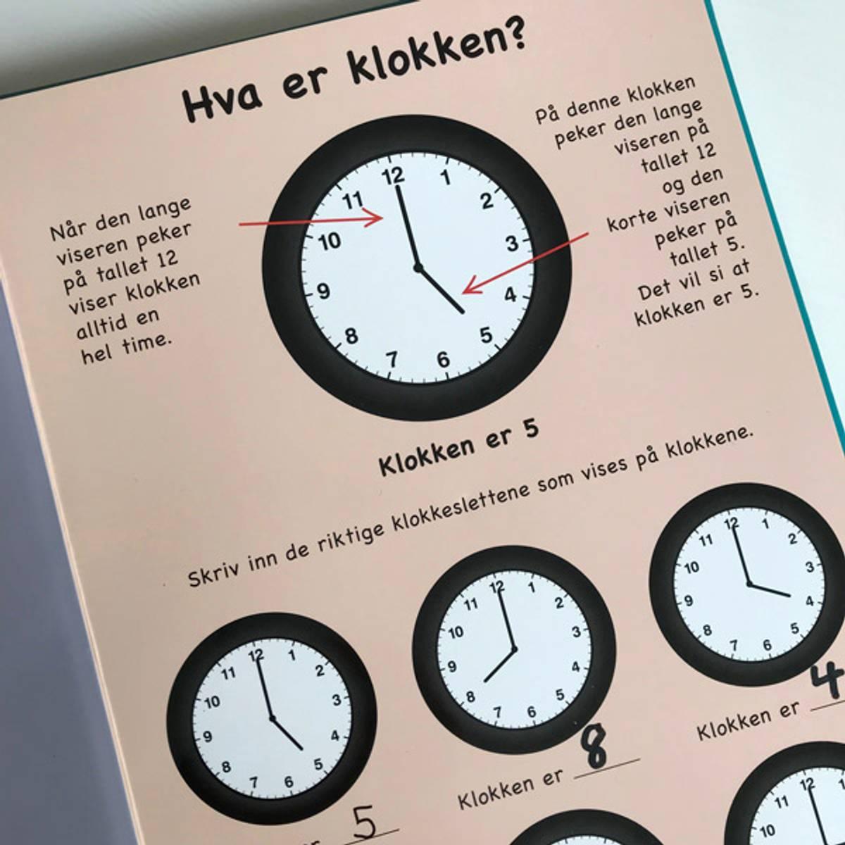 DEN STORE KLOKKEBOKEN - Lær klokka, skriv & vask bort